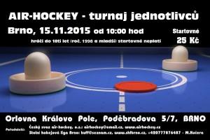Pozvánka – turnaj Brno, 15.11.2015