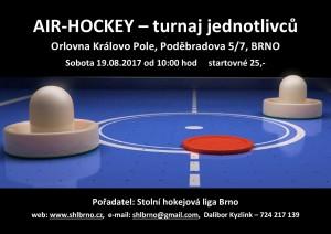 Brno – turnaj jednotlivců, 19.08.2017 – pozvánka